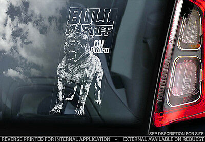 Bullmastiff - Car Window Sticker - Dog Sign -V02