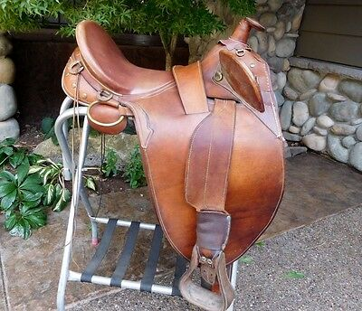 Australian Stock Saddle Co. Poley with Horn Brown Leather