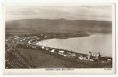 Old Postcard 'General View - Ballygally' Co Antrim R/P 1932
