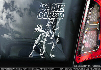 Cane Corso - Car Window Sticker - Dog Sign -V02