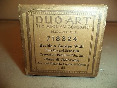 "1926 Duo-Art Reproducing Player Piano Roll #713324 ""Beside A Garden Wall"""