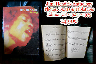 Jimi Hendrix Anthology - Photos, textes & tablatures - Edition US