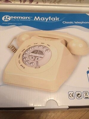 Geemarc Mayfair classic telephone NEW in cream