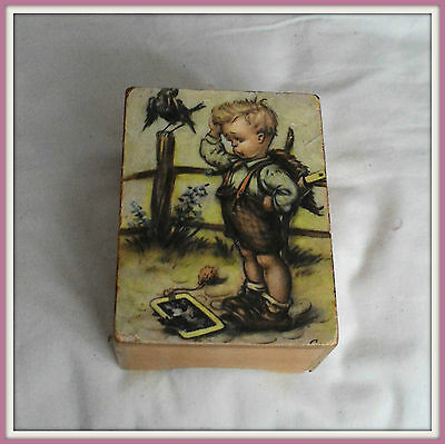 Vintage LADOR wood wind up music box* made in Switzerland* Mary little lamb