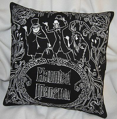 Disney Haunted Mansion Throw Pillow Cover Grim Grinning Ghosts Velvet Back New