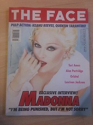 Rare Madonna The face magazine bedtime stories 1994