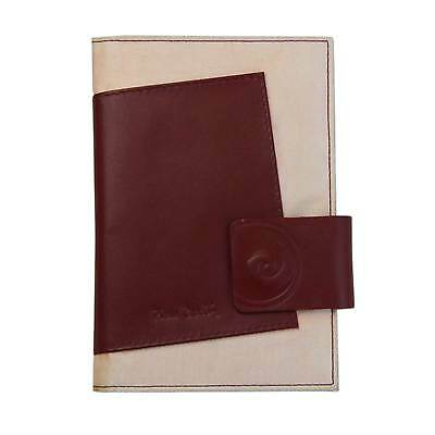 Pierre Cardin Genuine Leather Contrast Passport Cover Wallet - Red