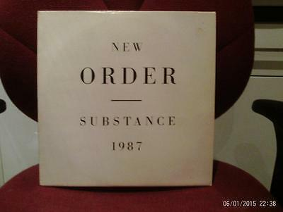 New Order - Substance 1987 Double Vinyl LP with inserts
