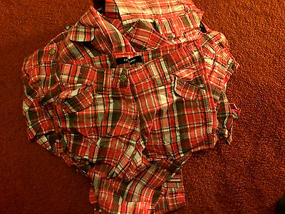 Wholesale Job Lot Ex George Girls Check Shorts Mixed Sizes X 11 Pairs