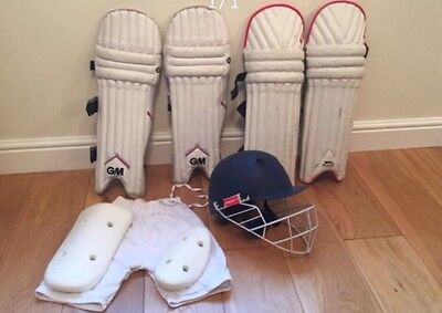 Cricket Pads Helmet And Protective Shorts