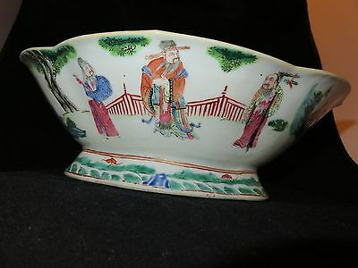 Antique Asian Chinese Famille Rose  Wu Shuang Pu Bowl