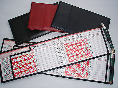 Miclub Red leather golf autoscore card holder - Original and still the Best