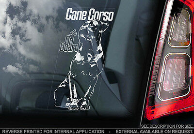 Cane Corso - Car Window Sticker - Dog Sign -V03
