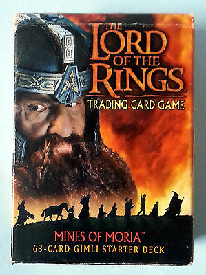 Lord Of The Rings Mines Of Moria Trading Card Game 63 Card Gimli Starter Deck