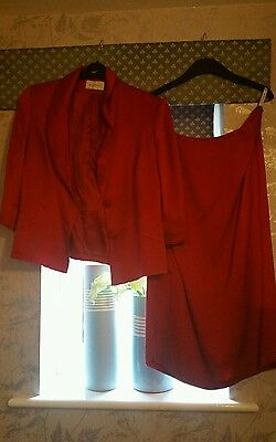 Minuet Red Suit ideal for wedding outfit size 14