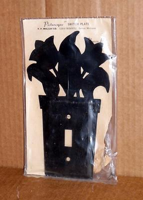 Vtg Light Switch Wall Plate Decorative Metal Wall Light Switch Cover Plate #5