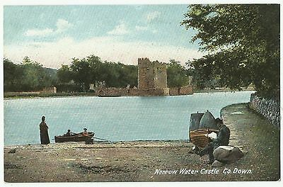 Old Postcard 'Narrow Water Castle' Co Down - Lawrence