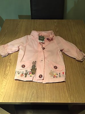 New With Tags Next Girls Jacket Coat Rain Coat 2-3 Years Bunnys Tag £25