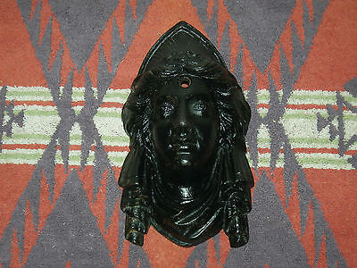 """Antique Cast Iron Victorian Architectural Lady Jenny Lind 8"""" X 5"""" X 3"""" @ 4 Lbs"""