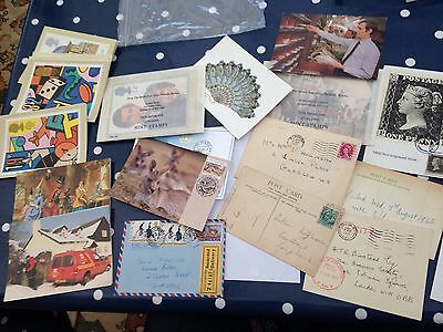 Old Postcards PHQ cards FDC cards interesting lot