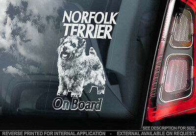 Norfolk Terrier - Car Window Sticker - Dog Sign -V01