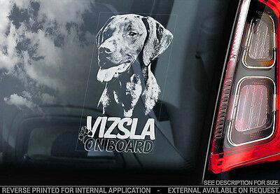 Vizsla - Car Window Sticker - Dog Sign -V02