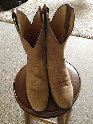 Justin Western Cowboy Boots Size 8 1/2 D