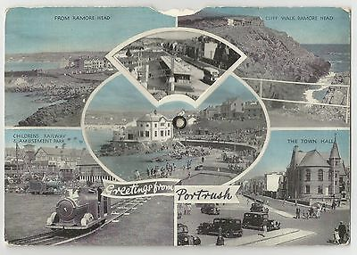 Old Mechanical Nine View Postcard 'Greetings from Portrush' Co Antrim