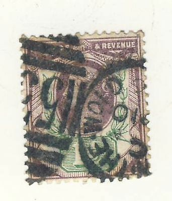 Queen Victoria 1 1/2d purple & green 1887 SG 198 used