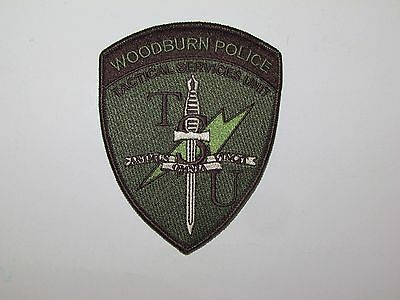 Oregon State Woodburn City Police Tactical Services Unit TSU SWAT Patch ERT TRT