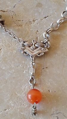 Vintage Silver Chinese - Tibetan Chatelaine & Pendant - 36.7 gm - Collectible