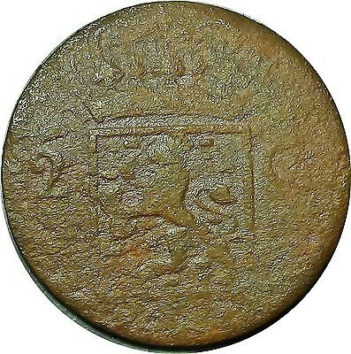 Holland Netherlands Dutch 2 Cents 1833 V  old coin seen much life!!       (5850)