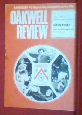Barnsley V Newport County 28/08/1976 Division Four