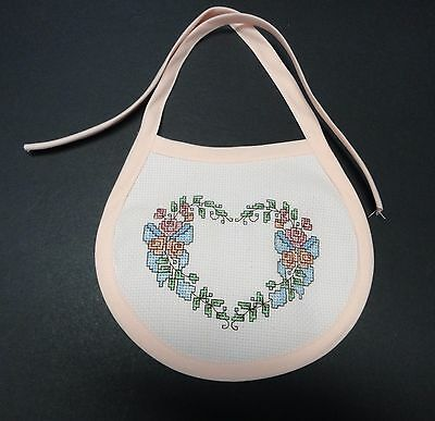 Cross Stitch- Completed Baby Bib