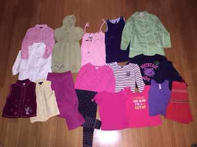 Toddler Girls Sz 4T Lot Of 18 Pcs Gap Gymboree Tommy Disney Americ Apparel