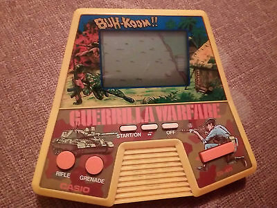Vintage Lcd Game - Guerrilla Warfare Casio 1987  - Complete  - Tested Working