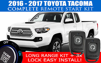 PREMIUM Toyoto Tacoma Remote Start Complete Kit 2016 2017 Easy Install!