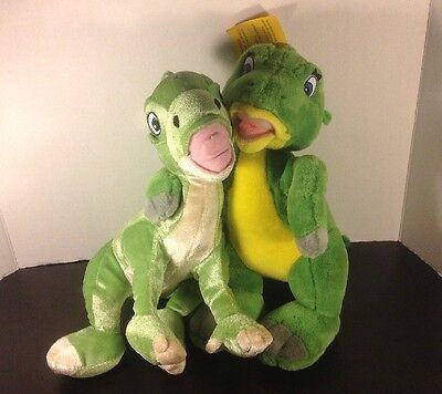 """2 12"""" Ducky Plush Lot - The Land Before Time - Toy Network W/ Tag & Kellytoy"""
