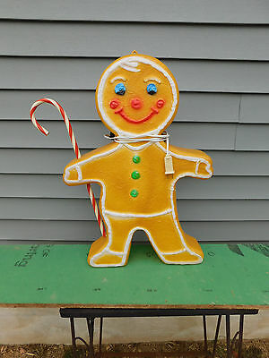 Union Products Christmas Blowmold Lighted Gingerbread Boy / Girl Deluxe Version