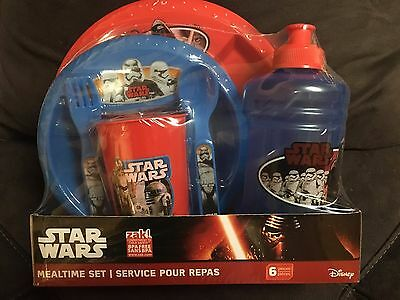 STAR WARS 6 PIECE MEALTIME SET ~ Kylo C3PO Phasma R2D2 Stormtrooper BB8