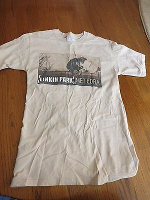 Linkin Park Meteora 2004 World Tour Authentic Concert Tee Sand Men's Size S