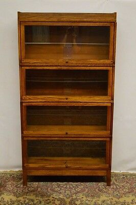 Globe Wernicke Antique Oak Stacking Barrister Bookcase