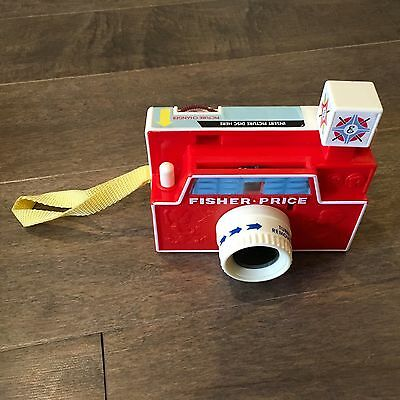 Retro Fisher Price Changeable Picture Disc Camera Story Viewer with 1 Disk