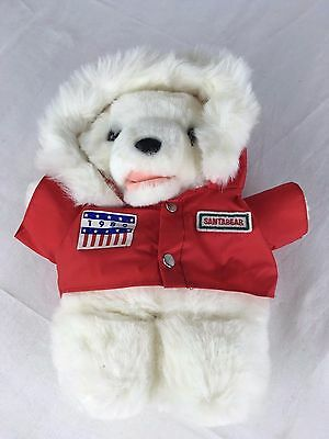 Dayton Hudson's 1989 Fluffy Plush SANTA BEAR w/ Polar Club Gore-tex Parka