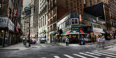New York Corner by Henryk Lobaczewski Huge Art Print