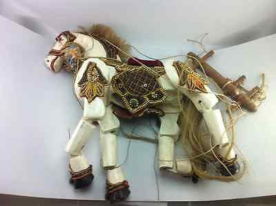 Burma Burmese War Horse Pony Marionette Puppet Puppetry String Rare Collectibles