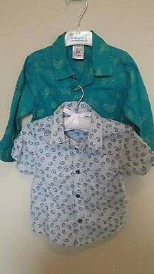 Charlie & Me summer shirt baby boy bundle size 0 or 6-12 months