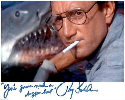 Roy Scheider Autographed Poster Photo 8X10 Rp Signed Jaws