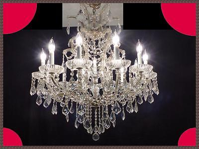 Vintage Large Original Italian Maria Theresa Crystal Chandelier Breathtaking!