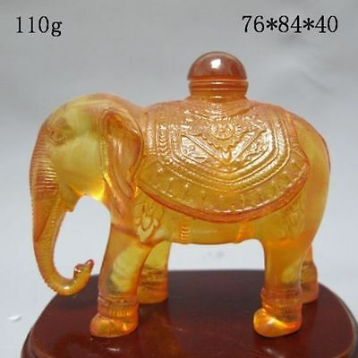 Chinese Hand-carved Elephant Snuff Bottle mk